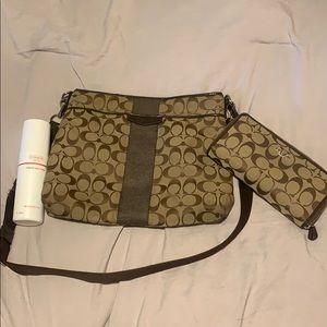Coach hip side bag & wallet & cleaner
